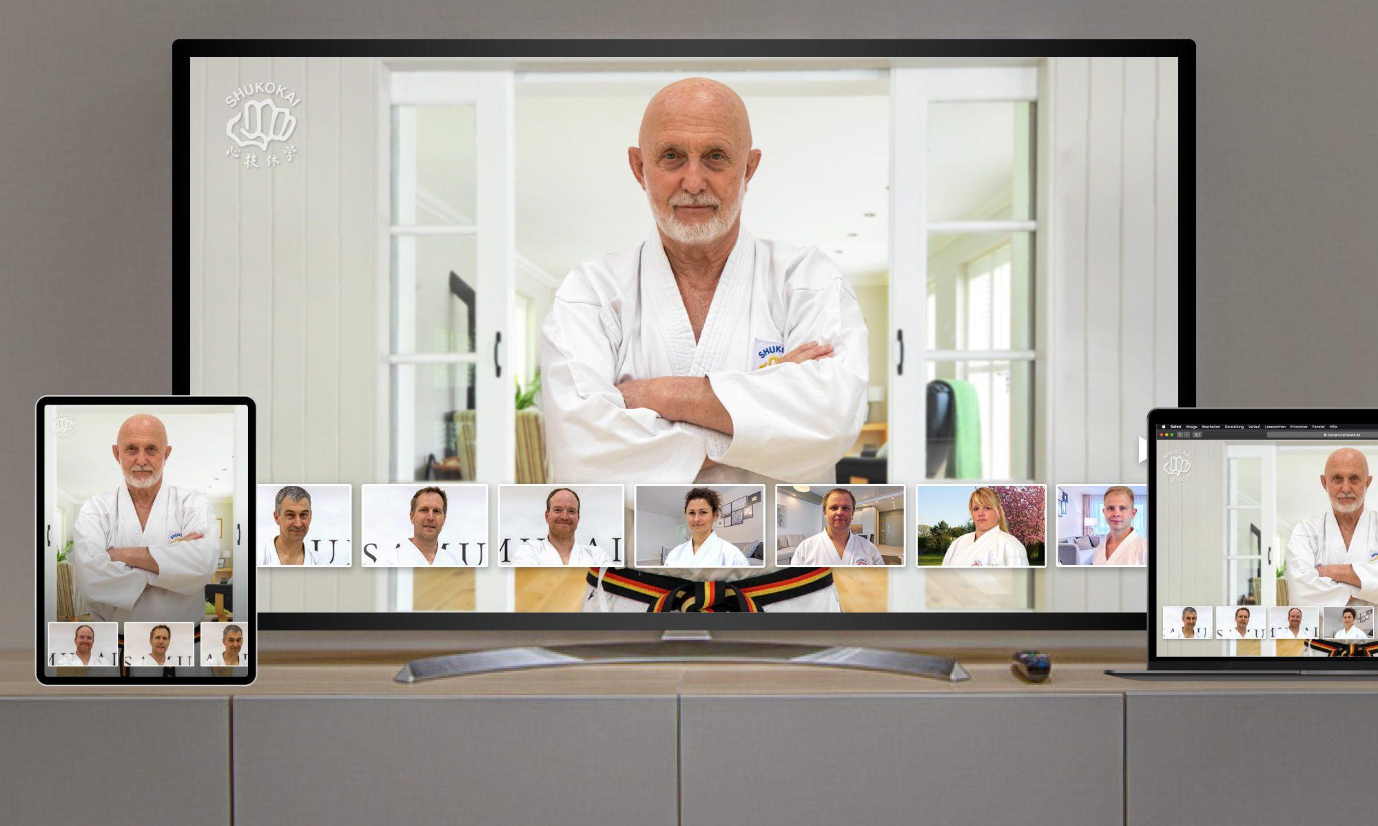 Karate-Training online via Tablet, PC, Laptop oder Fernseher
